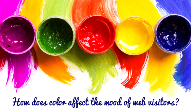 How does color affect the mood of web visitors?