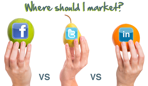 market Facebook vs Twitter vs LinkedIn